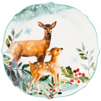 Тарелка закусочная lefard лесная сказка олени 20,5 см