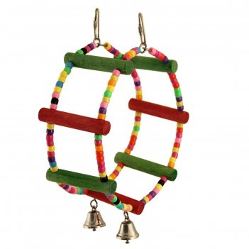 Кольцо-бусины для птиц triol  с колокольчиками, 25*7,5 см
