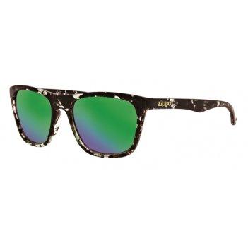Очки солнцезащитные zippo, унисекс, чёрные, оправа из поликарбоната