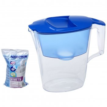 Фильтр для воды 2,5 л аквафор стандарт, цвет голубой