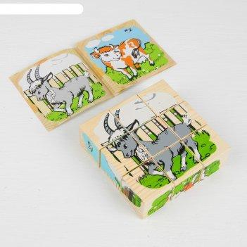 Кубики домашние животные 9 элементов