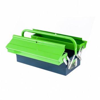 Ящик для инструмента, 430 х 200 х 160 мм, три секции, металлический сибрте