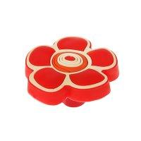 Ручка кнопка детская kid 024, цветочек 2, резиновая, красная