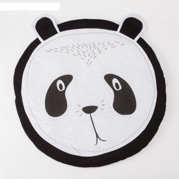 Коврик детский игровой крошка я панда, d 90 см, 100% хлопок