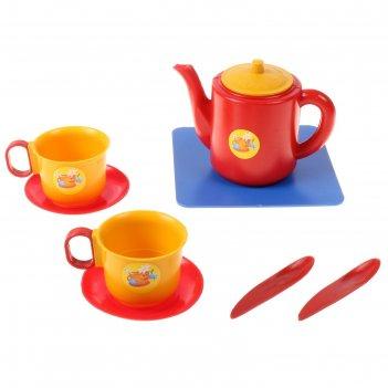 Посуда для кукол набор чашек с чайником