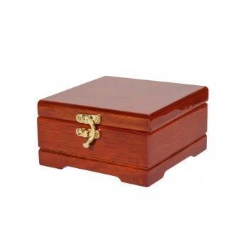 Деревянная шкатулка для украшений s-674 коричневый