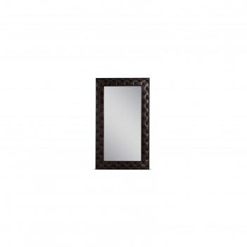 Зеркало «алеро» большое, 100,5 х 170,5 см, экокожа, цвет коричневый