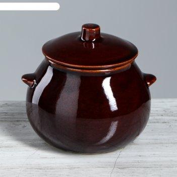 Горшок для запекания 0,6 л, коричневый