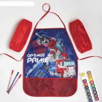 Набор детский для творчества optimus prime transformers (фартук 49х39 см и