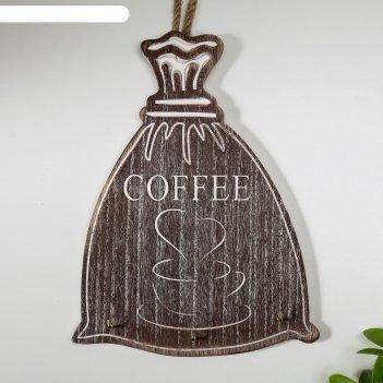 Крючки декоративные дерево мешок с кофе 23,5х18х2,8 см