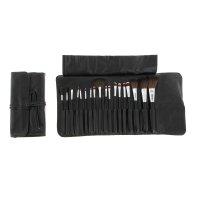 Набор для макияжа 18 предметов, в футляре на завязках, черный