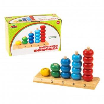 Пирамидка логическая учим цифры и цвета