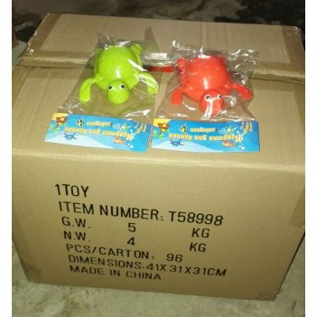 Тилибом, зав. игр. для ванной, черепаха,9 см