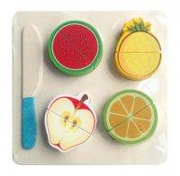 Набор  продуктов с ножом фрукты