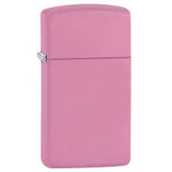Зажигалка zippo slim, латунь с покрытием pink matte, розовый, матовая, 30х