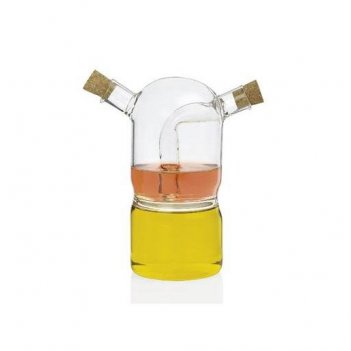 Andrea house бутылка для масла и уксуса transparent glass