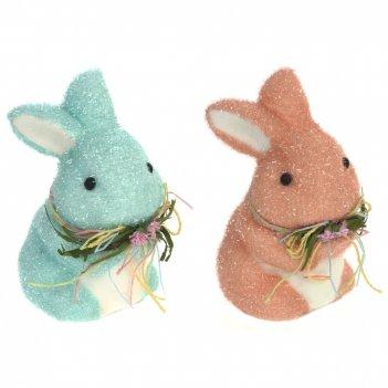 Фигурка декоративная заяц, l9,5 w13 h16 см, 2в.