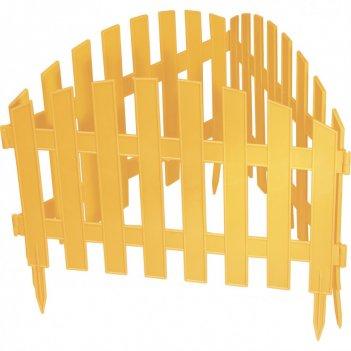 Забор декоративный винтаж 28 x 300 см, желтый россия palisad