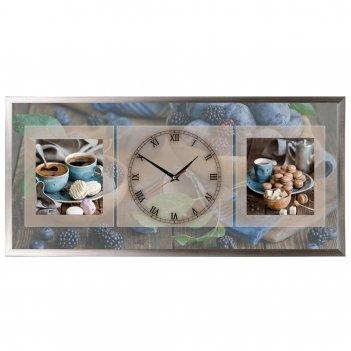 Настенные часы из песка династия 03-072 деревенский дом