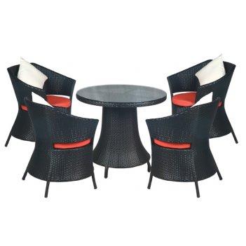 Комплект мебели из искусственного ротанга бриз (кофе)