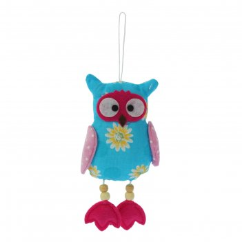 Мягкая игрушка-подвеска сова с ножками, цвета микс