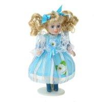 Кукла коллекционная василиса в голубом платьице