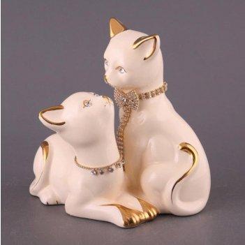 Фигурка пара кошек с цепочкой высота=18 см.