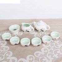 Набор для чайной церемонии 9 предметов лотос чайник 180 мл, чашка 70 мл, ч