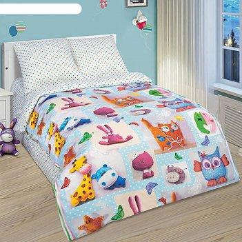 Детское постельное бельё 1,5 сп. «плюшевый мир»