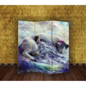 Ширма тёплы кот, 160 x 150 см