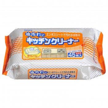 Салфетки влажные для уборки на кухне kyowa, 45 шт.