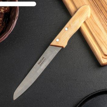 Нож для мяса «ретро», лезвие 16 см, деревянная рукоять