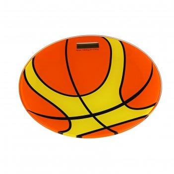 Весы напольные luazon lvk-01, электронные, до 180 кг, мяч, оранжевые
