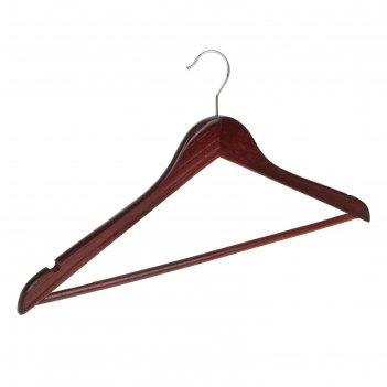 Вешалка-плечики с перекладиной, размер 46-48, цвет вишнёвый