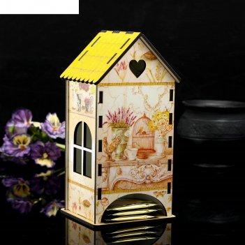 Чайный домик «прованс нежность», 9,3x9,3x20 см