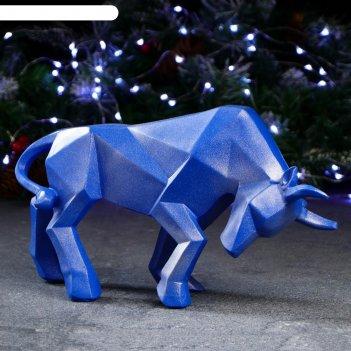 Фигура ортогональный бык 19 х 33 см, синий