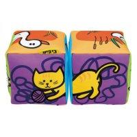 Кубики музыкальные совмести-ка животных, мягкие