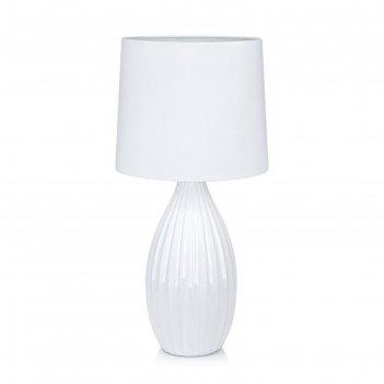 Настольная лампа stephanie 1x60вт e27 белый