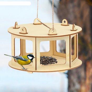 Кормушка для птиц «беседка», 20 x 20 x 12 см