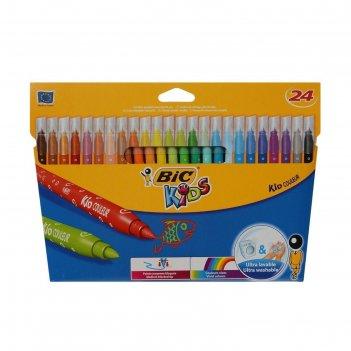 Фломастеры 24 цвета bic kids kid couleur