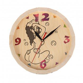 Часы банные бочонок девушка