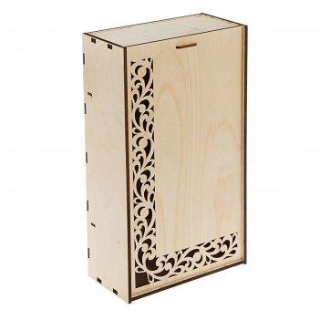 Коробка для вина двойная узор 38*22*11 см
