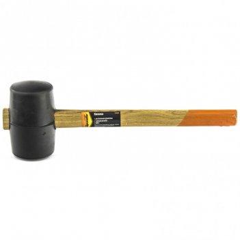 Киянка резиновая, 680 г, черная резина, деревянная рукоятка sparta