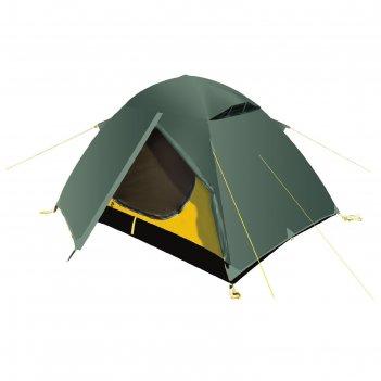 Палатка, серия trekking travel 2, зеленая, двухместная