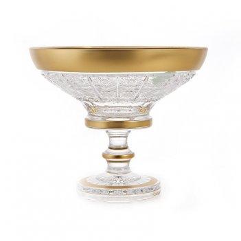 Ваза для конфет н/н 15,5 см.cнежинка с золотом 60550