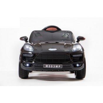 Электромобиль barty porsche m003mp macan черный, резиновые колеса, сиденье