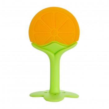 Прорезыватель силиконовый «лимон», на ножке