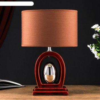 Настольная лампа луиза 1x40вт e14 коричневый 15х25х34см