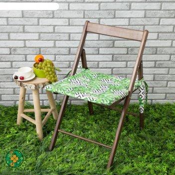 Подушка на стул уличная «этель» геометрия, 45x45 см, репс с пропиткой вмго