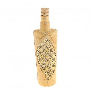 Бутылка в бересте, резная
